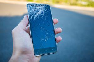 Displaybruch Handy bereit für die Reparatur